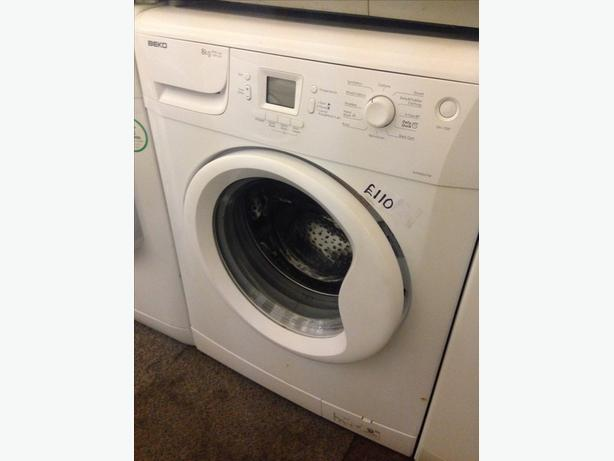 BEKO 8KG WASHING MACHINE WHITE