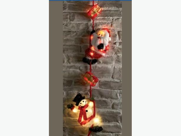 OUTDOOR 5FT CLIMBING SANTA & SNOWMAN CHRISTMAS LIGHT