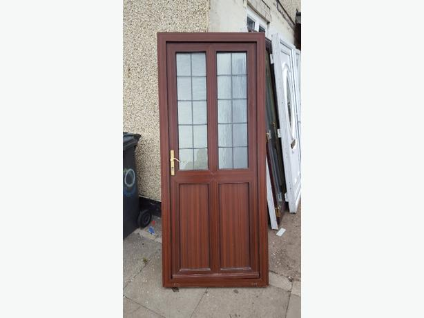 Brown upvc door bilston dudley for Brown upvc door