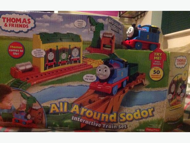 Thomas the Tank Engine all around sodor interactive train set