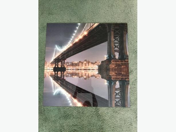 Large Brooklyn Bridge glass picture