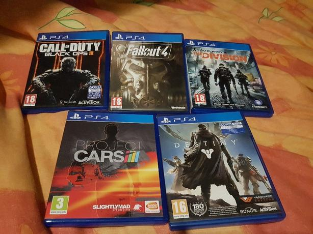 ps4 games black ops 3 ,destiny,project cars,fallout 4,the division.