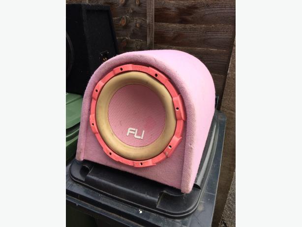 """fli pink 10"""" 800watts bass box &amp"""