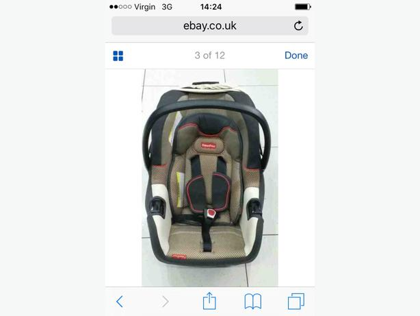 Fischer price car seat