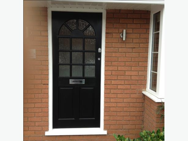 Hard Wood Front Door Glazed with Yale & Mortice Locks