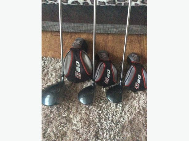PING G20 1 ,3, 5 woods mint condition