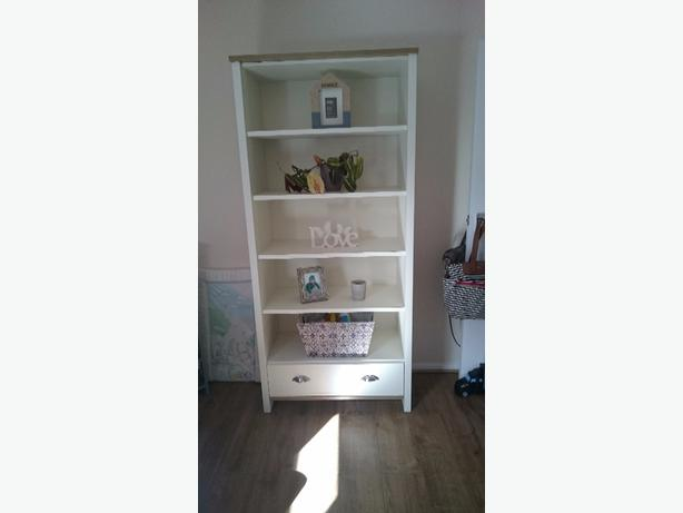 cream/oak bookcase