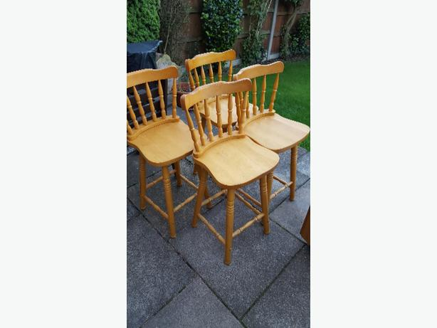 set of four breakfast bar stools