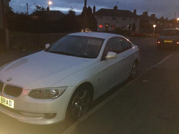 bmw 320D white red leather e92