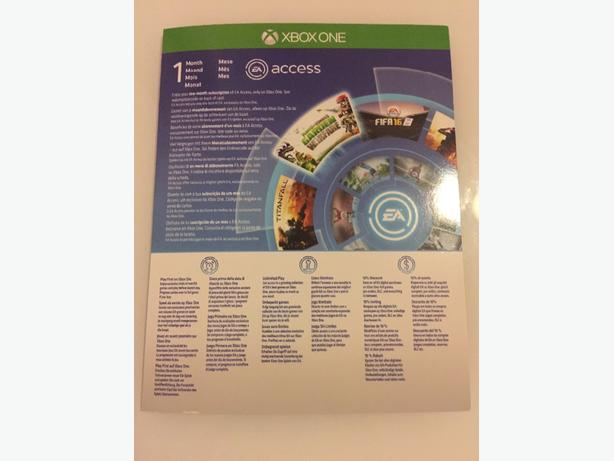 1 MONTH EA ACCESS X3 (XBOX ONE)