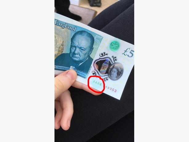 AA cereal £5 note