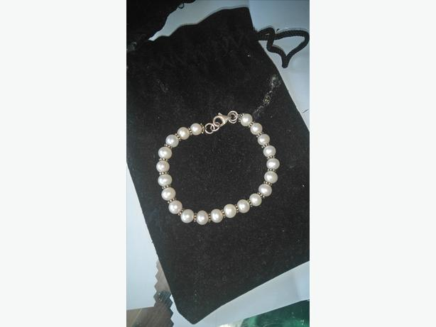 925. Suarti pearl silver braclet