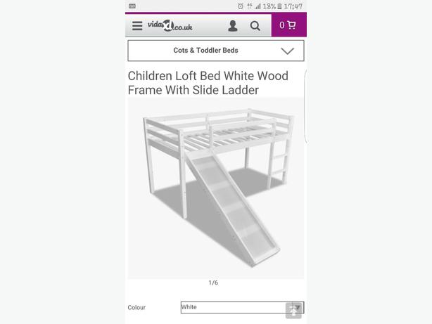 childrens loft bed frame with slide