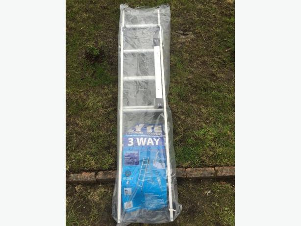LYTE ALUMINIUM 2-SECTION COMBINATION LADDER 2.59M BRAND NEW RPP 99.99 £