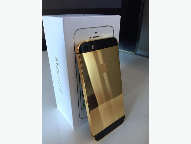 iphone 5s 64gb unlocked 24k gold plated