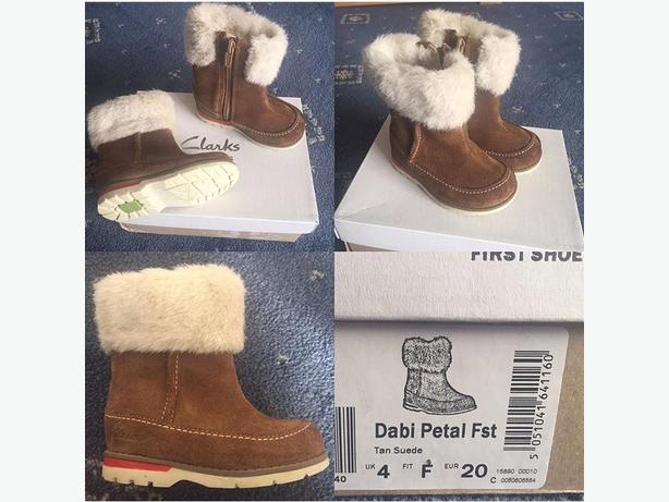 clarks size 4f boots