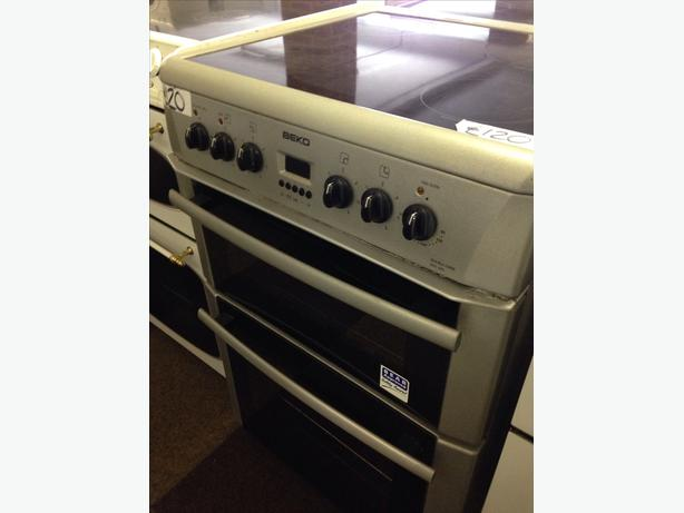 BEKO 60CM FAN ASSISTED DOUBLE OVEN ELECTRIC COOKER
