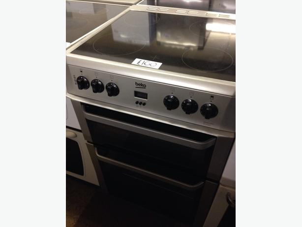 BEKO 60CM DOUBLE OVEN FAN ASSISTED ELECTRIC COOKER