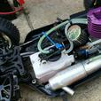 Storm CL1 4WD 1/8 nitro RC NovaRossi engine & pipe, K&N filter. (HPI Losi) DX4S