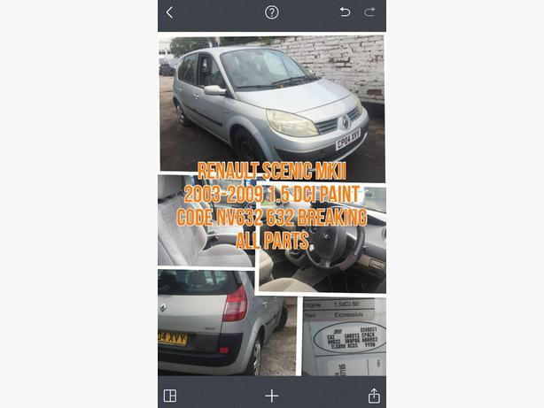 RENAULT SCENIC MKII 1.5 DCI K9K PAINT NV632 BREAKING ALL PARTS