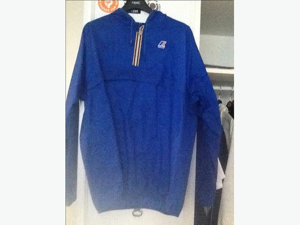 Blue k Way waterproof jacket