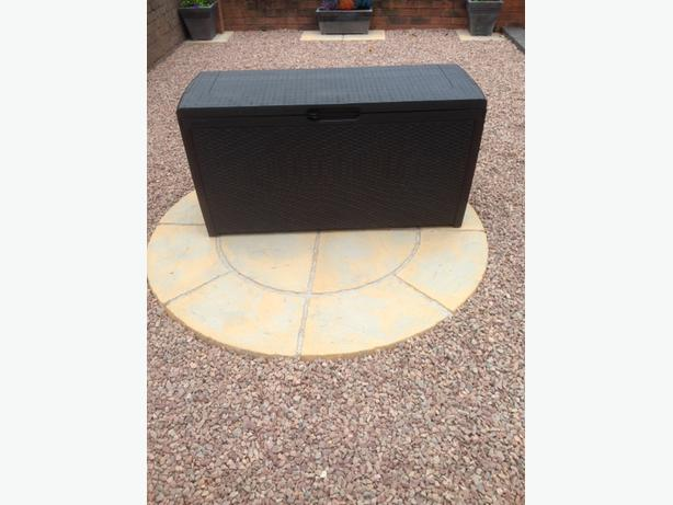 New keter rattan style 265L storage box