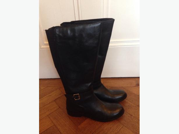 Beautiful redfoot black leather knee high boots size 7