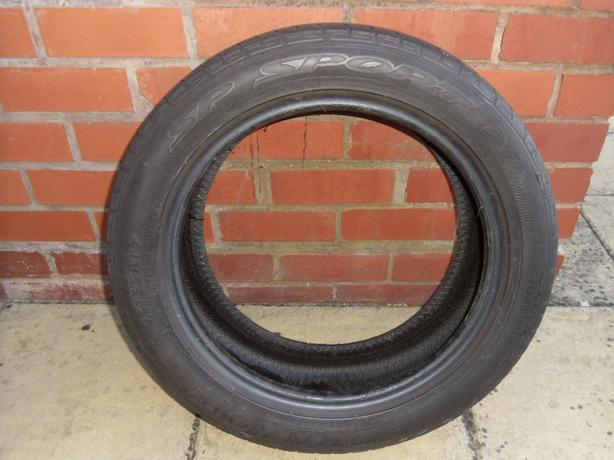 Dunlop SP Sport Tyre. Part worn. 195/55/16. 87H.
