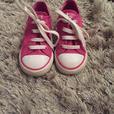 girls pink glitter converse size 8