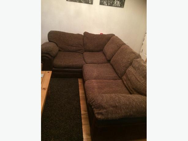 Material corner sofa