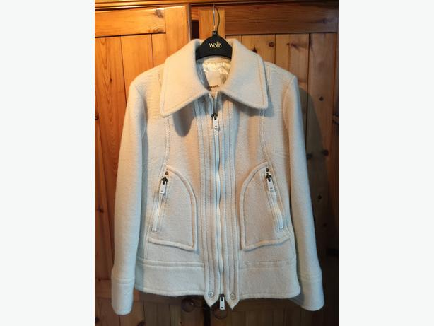 Ladies Cream Diesel woollen coat size M