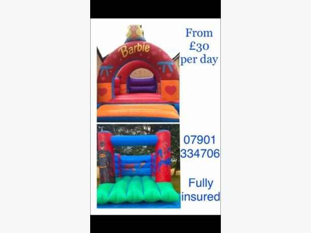 bouncy castle hire and glitter tattoos