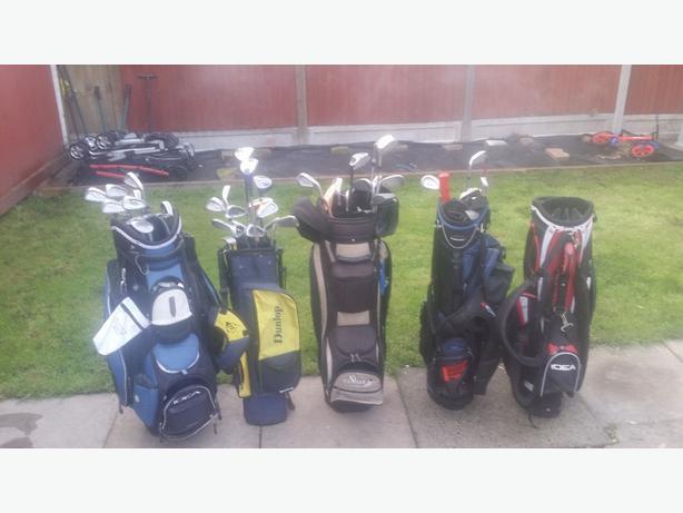 golf clubs/golf bags