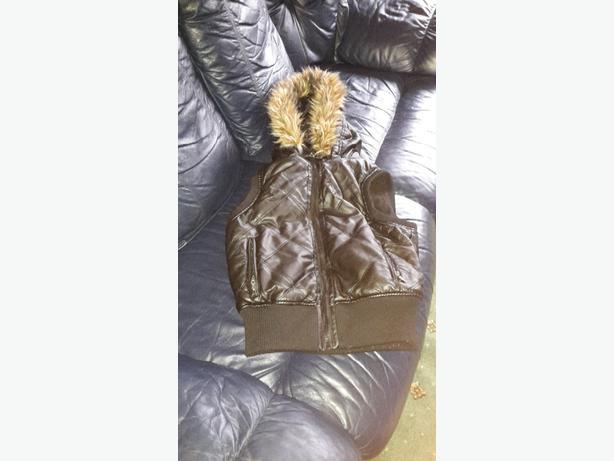 leather body warmer