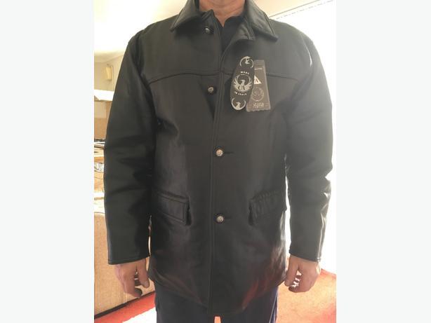 mens black knee length jacket