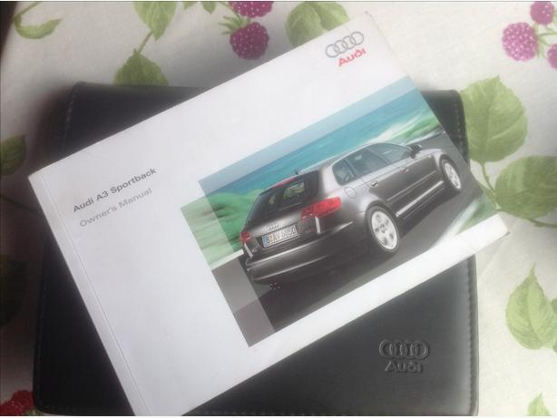 Audi A3 Sportback Owners Manual in Audi flip wallet case