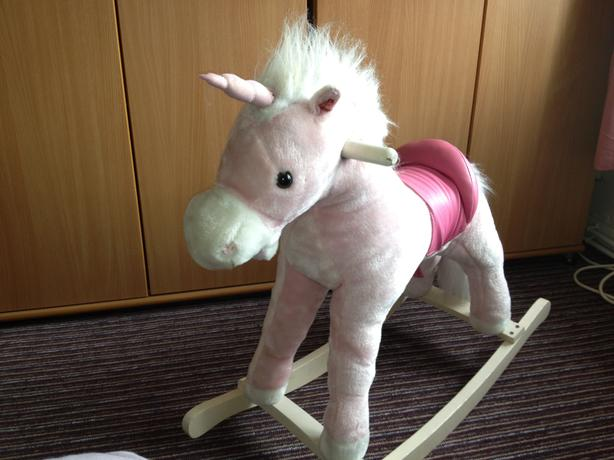 Pink rocking unicorn