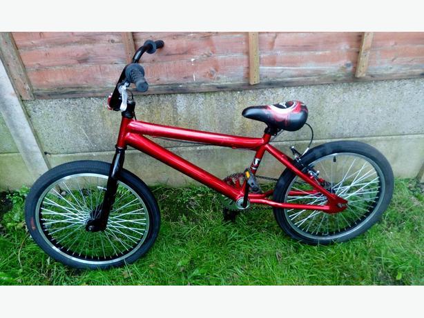 Red BMX Stunt Bike