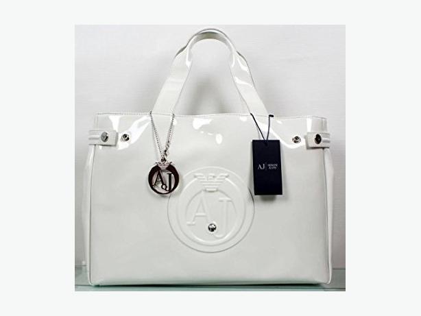 BARGAIN! - WHITE ARMANI JEANS Patent Bag AJ