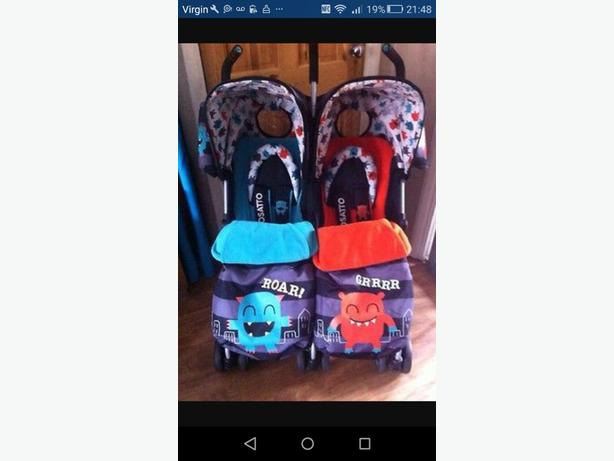 Cosatto Supa Dupa Monster Double Pushchair Immaculate Condition