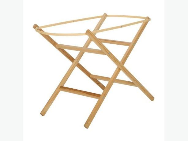 Eco Baby Folding Moses Basket Stand Natural