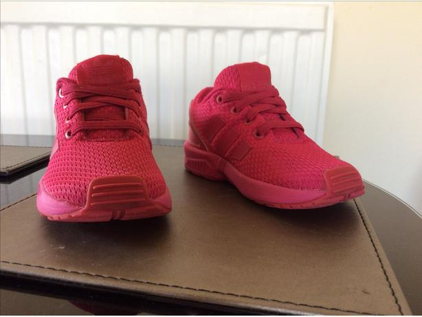 Pink trainers adidas zx flux size infant 7