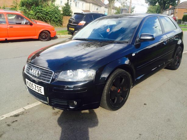 Audi a3 tdi sport, 140bhp finished in metalic black