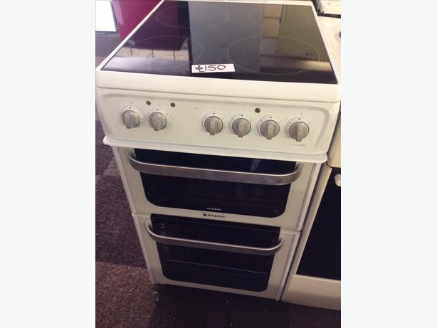 HOTPOINT ULTIMA ELECTRIC COOKER 50CM CERAMIC TOP