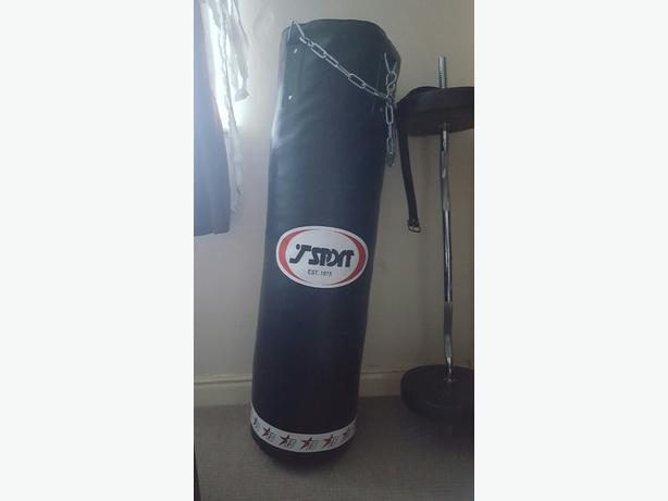 T SPORT 4FT BOXING PUNCH BAG WITH CHAINS BOXING BAG PUNCHING MMA MUAY THAI BAG