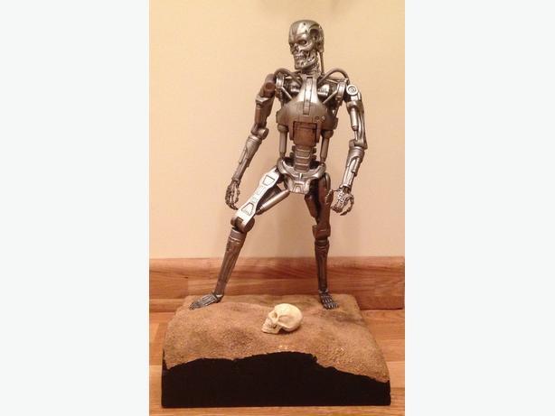 Terminator figure on diorama display base.