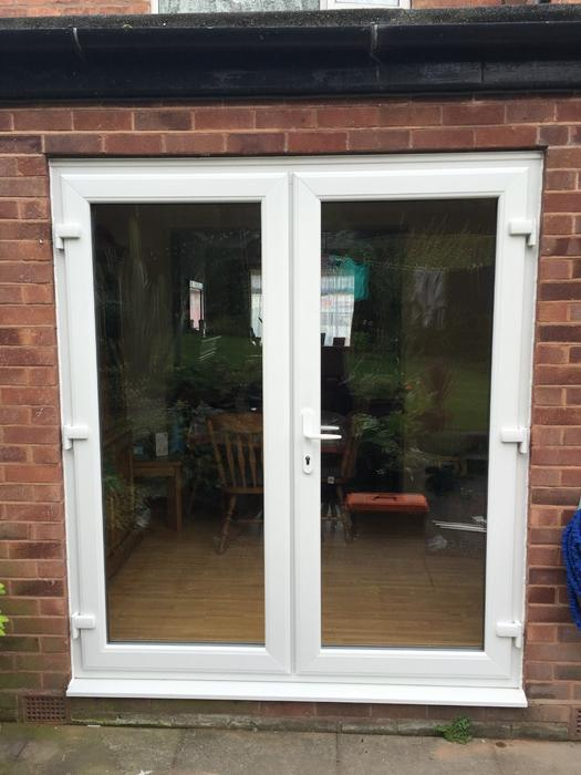 white upvc french doors 1500mm x 2100mm darlaston dudley