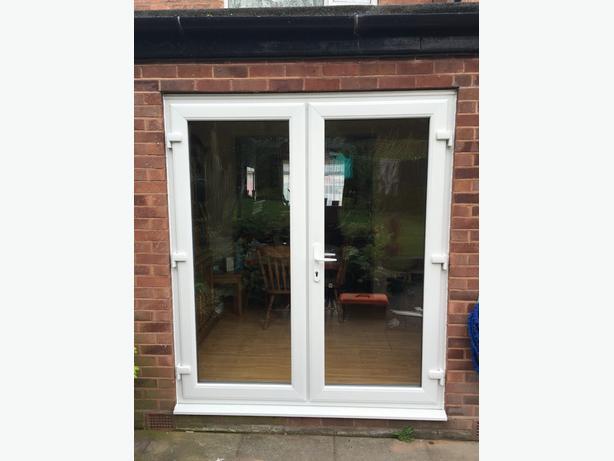 WHITE UPVC FRENCH DOORS 1600MM X 2100MM
