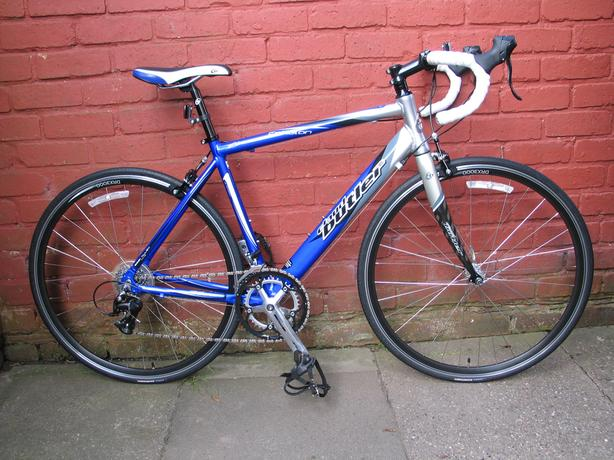 claud butler road bike, 50cm, carbon forks, shimano sti gears