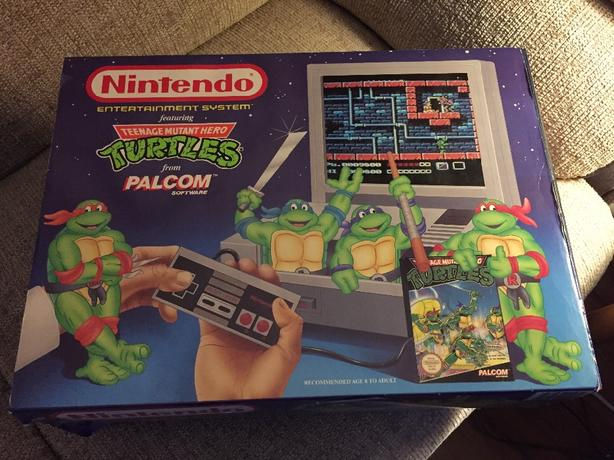 Teenage Mutant Ninja Turtles Nintendo Nes Console Boxed Rare TMNT